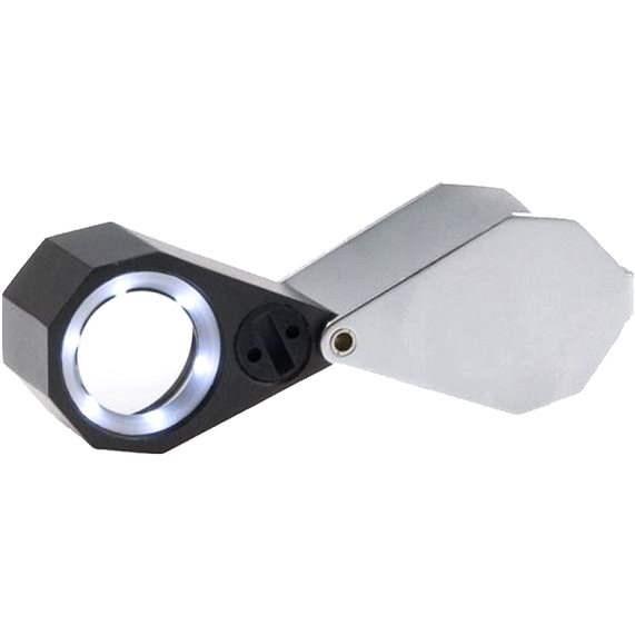 Viewlux 20x21mm s LED světlem - Lupa