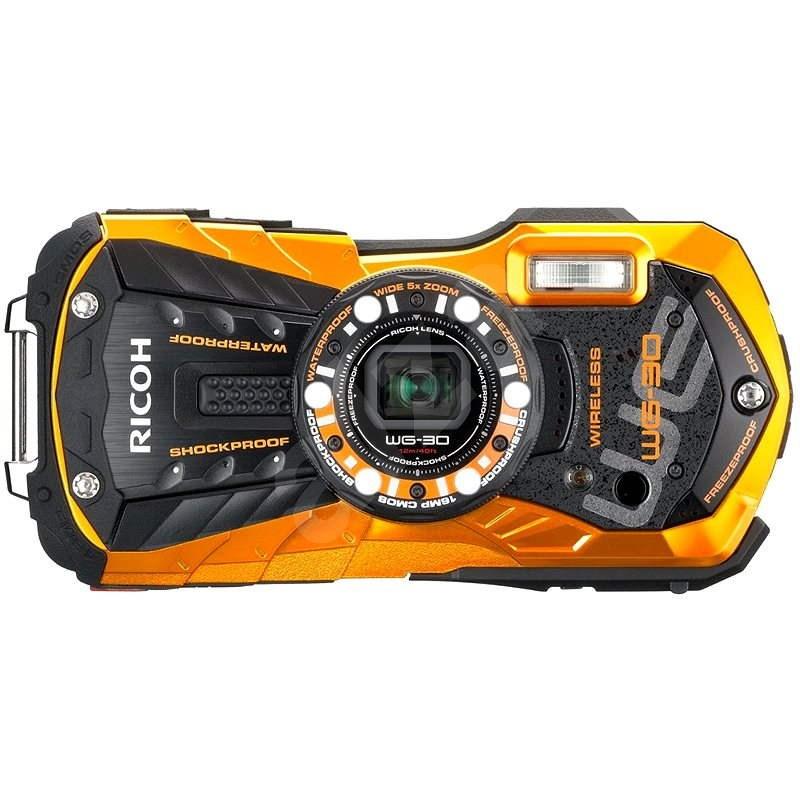 PENTAX RICOH WG-30 Wi-Fi oranžový + 16 GB SD karta + neoprénové pouzdro + plavací řemínek - Digitální fotoaparát
