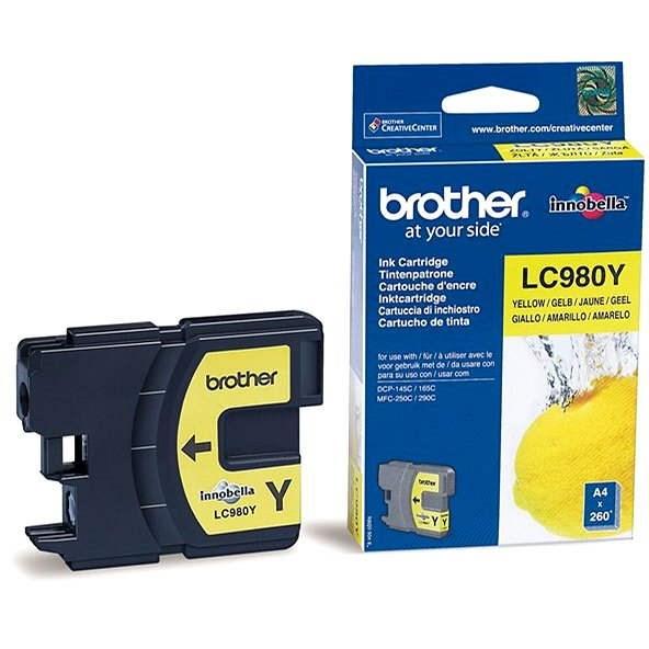 Brother LC-980Y žlutá - Cartridge