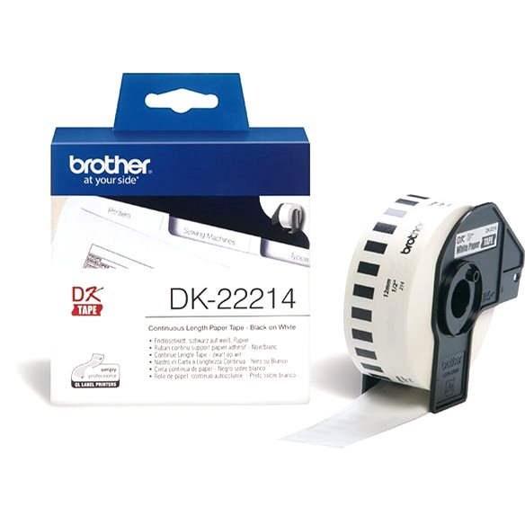 Brother DK 22214 - Papírové štítky