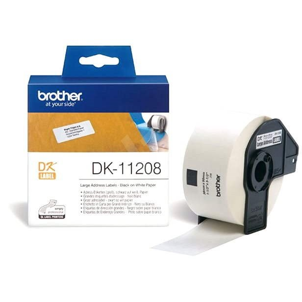 Brother DK 11208 - Papírové štítky