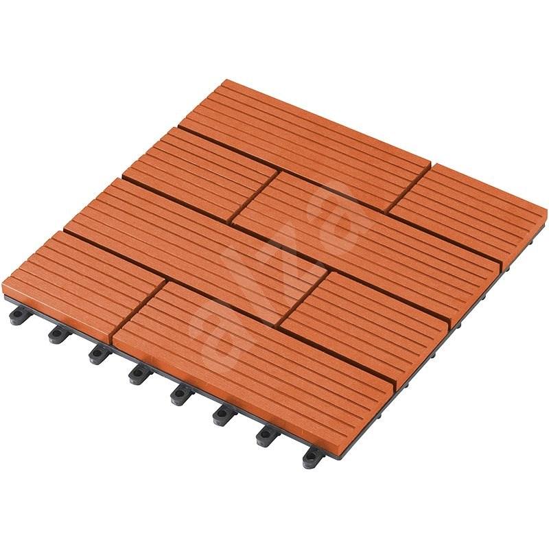 WPC dlaždice G21 Samoa třešeň 2,3 x 30 x 30 cm - Lem trávníku