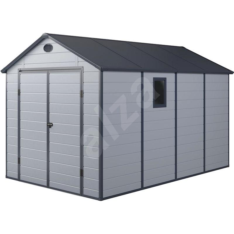 PAH 882 - 241 x 366 cm, plastový, světle šedý - Zahradní domek