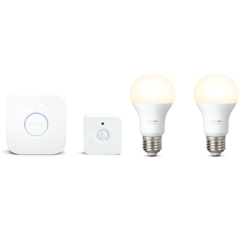 Philips Hue White starter kit set 2ks + sensor - Sada chytrého osvětlení