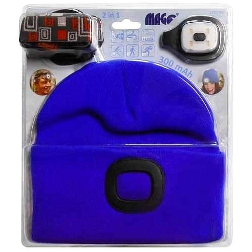 MAGG Čepice s LED světlem - světle modrá - Čepice
