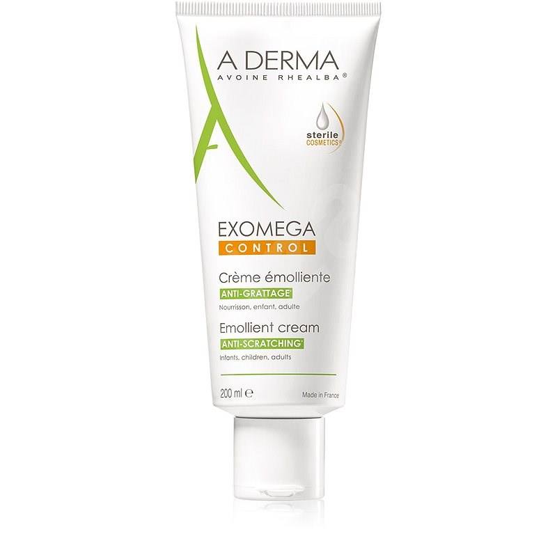A-Derma Exomega Control Emollient Cream for Dry skin with a Tendency to Atopy 200ml - Sterile Cosmet - Body Cream