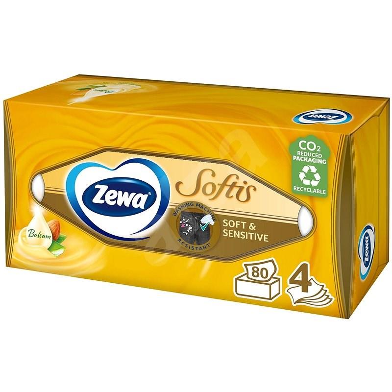 ZEWA Softis Soft & Sensitive BOX (80 ks) - Papírové kapesníky