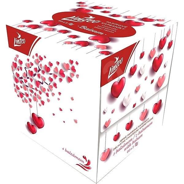 LINTEO BOX Čas se zamilovat s balzámem (60 ks) - Papírové kapesníky