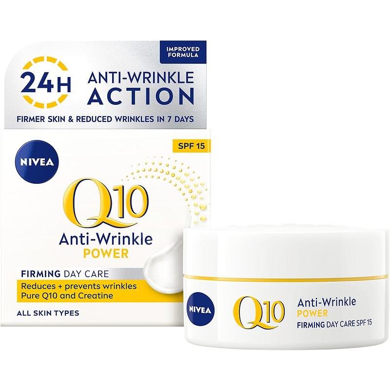 NIVEA Q10 Power Anti-Wrinkle + Firming SPF15 Day Cream 50 ml - Pleťový krém