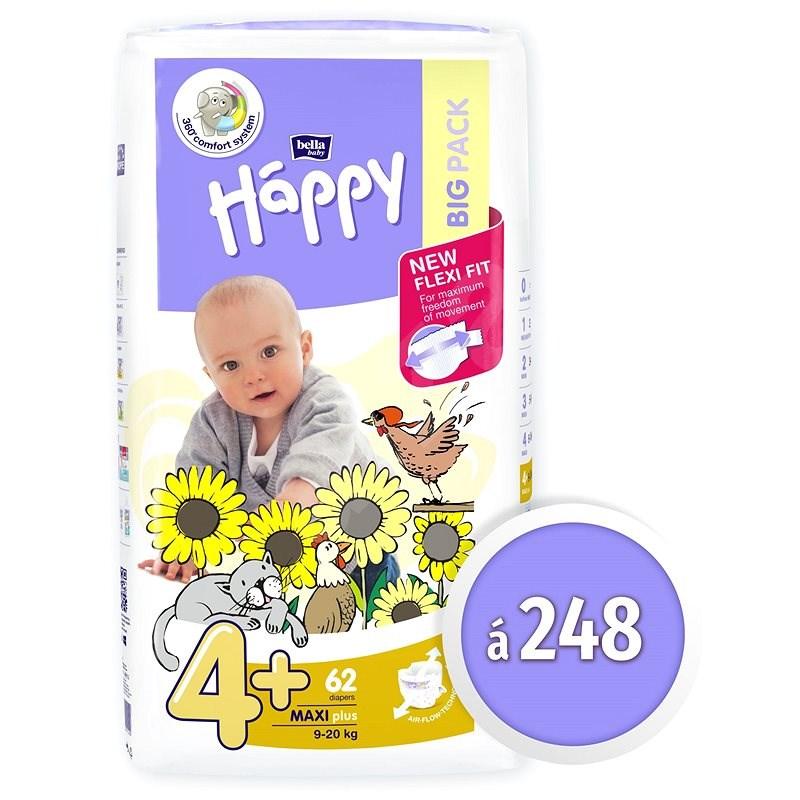 BELLA Baby Happy Maxi Plus vel. 4+ (248 ks) - Dětské pleny