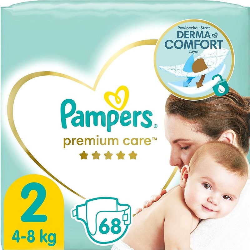 PAMPERS Premium Care Mini vel. 2 (68 ks) - Dětské pleny