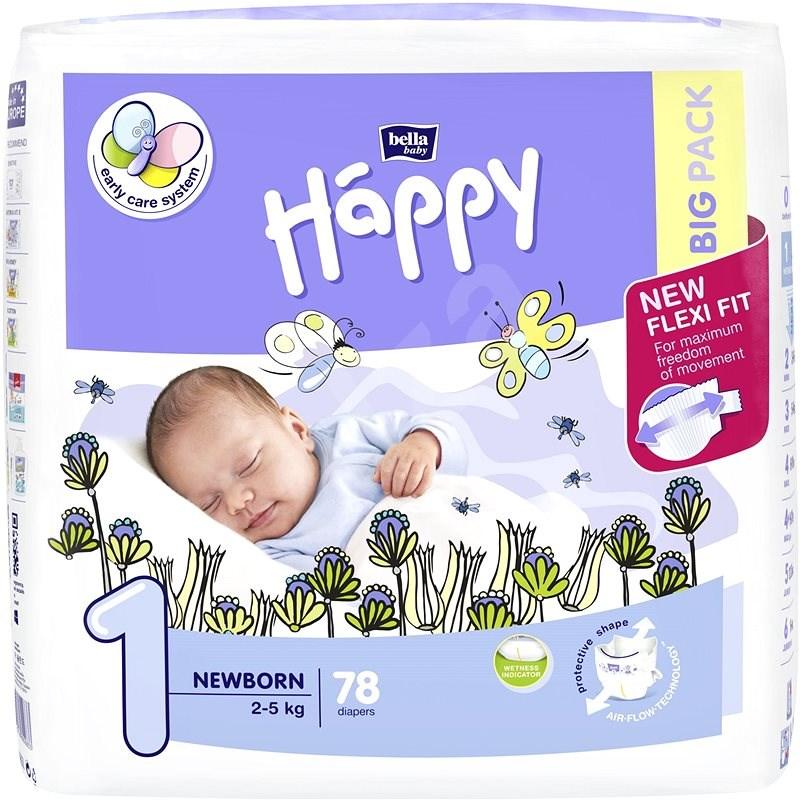 BELLA Baby Happy New Born vel. 1 (78 ks) - Dětské pleny