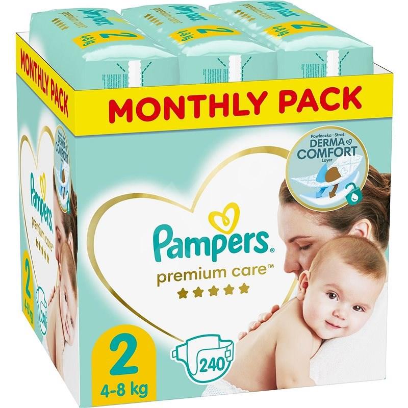 PAMPERS Premium Care vel. 2 Mini (240 ks) - měsíční balení - Dětské pleny