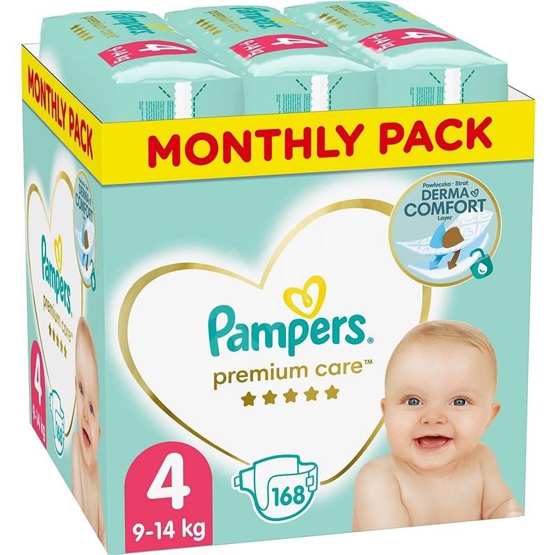 PAMPERS Premium Care vel. 4 Maxi (168 ks) - měsíční balení - Dětské pleny