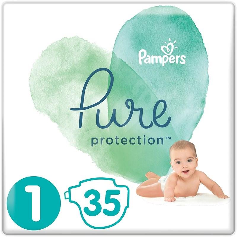PAMPERS Pure Protection vel. 1 (35 ks) - Dětské pleny