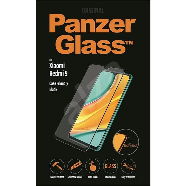 PanzerGlass Edge-to-Edge pro Xiaomi Redmi 9 černé - Ochranné sklo
