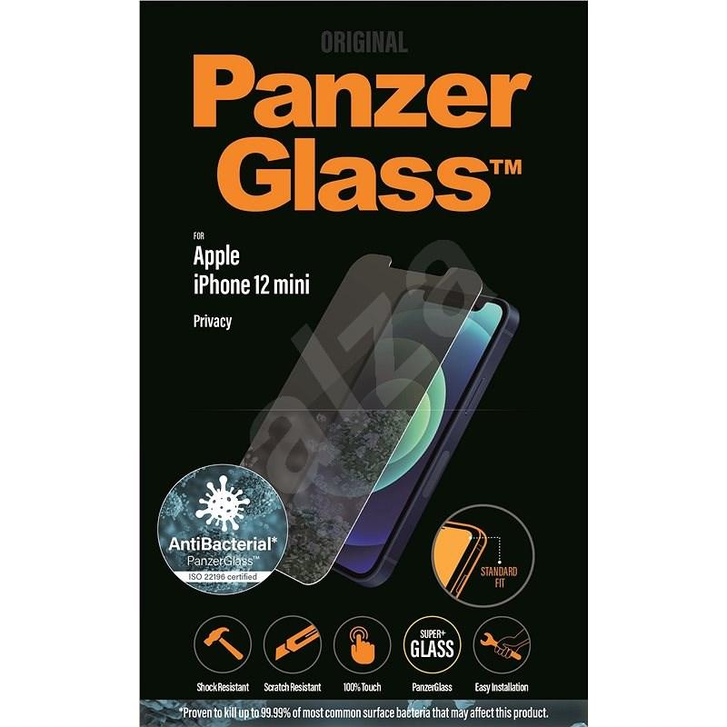 PanzerGlass Standard Privacy Antibacterial pro Apple iPhone 12 mini čiré - Ochranné sklo
