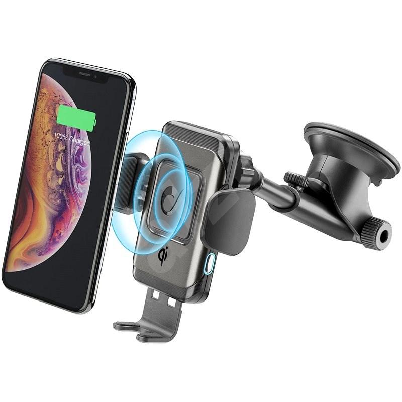 Cellularline Pilot Instant Wireless černý  - Držák na mobilní telefon