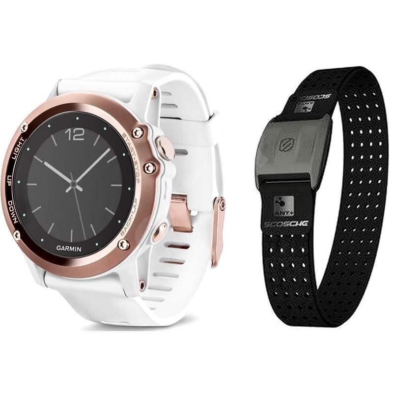 Garmin Fenix 3 Sapphire (Rose) + HR Optic - Chytré hodinky