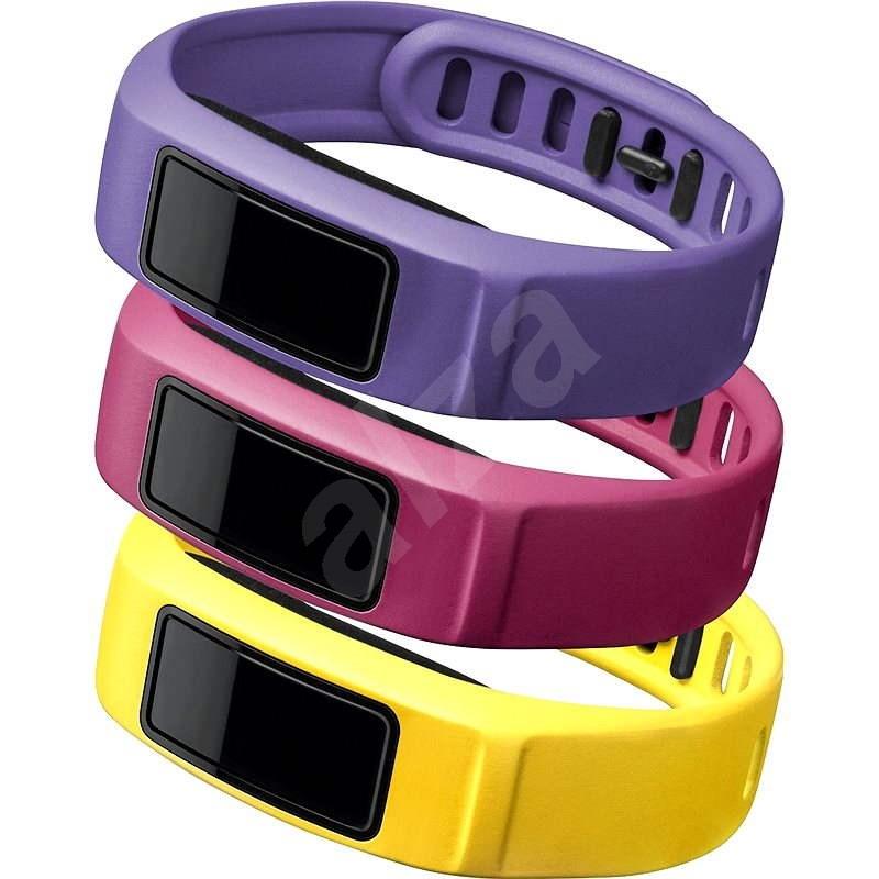 Řemínky pro vivofit2 : canary, pink, violet (malý průměr) - Řemínek