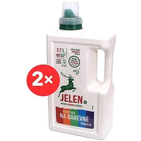 JELEN Prací gel na barevné prádlo 2× 2,7 l (120 praní) - Eko prací gel
