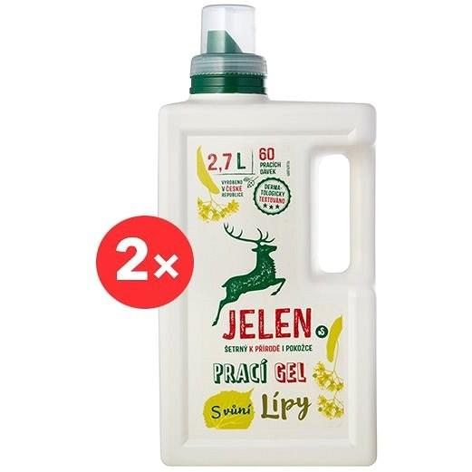 JELEN Prací gel s vůní lípy 2× 2,7 l (120 praní) - Eko prací gel
