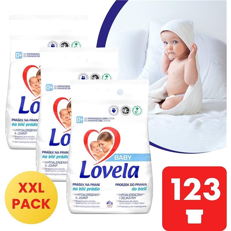 LOVELA Baby na bílé prádlo 3× 4,1 kg (123 praní) - Prací prášek
