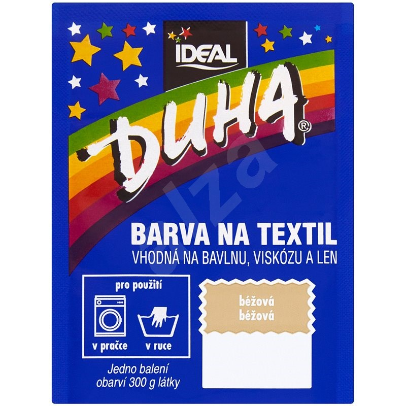 DUHA barva na textil světle béžová 15 g - Barva na textil