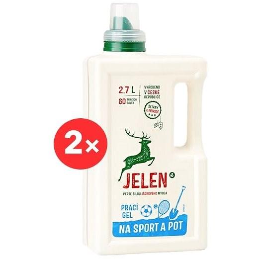 JELEN na sport a pot 2× 2,7 l (120 praní) - Eko prací gel