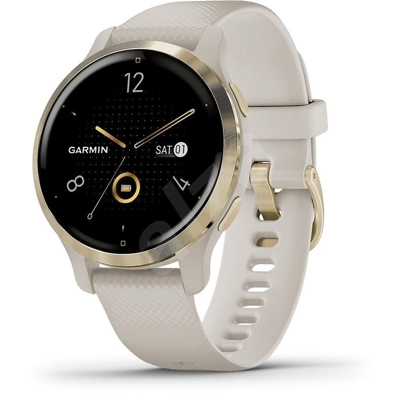 Garmin Venu 2S Light Gold/Sand Band - Chytré hodinky