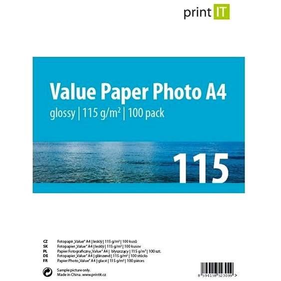 PRINT IT Paper Photo Glossy A4 100 listů - Fotopapír