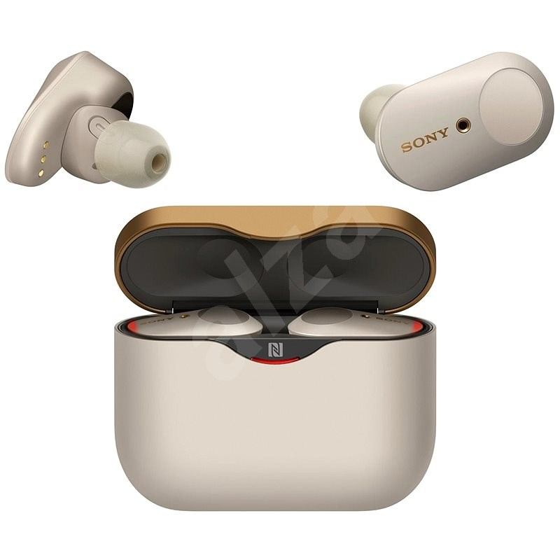 Sony True Wireless WF-1000XM3 stříbrná - Bezdrátová sluchátka