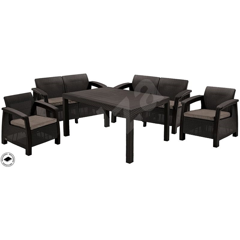 ALLIBERT CORFU FIESTA Brown - Garden Furniture