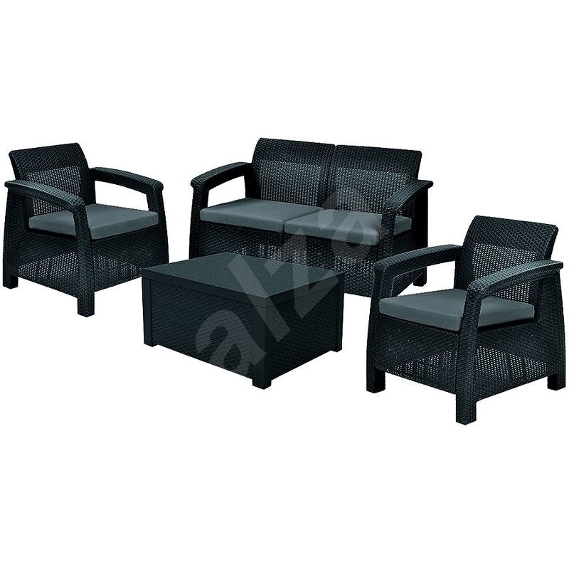 ALLIBERT CORFU BOX Graphite - Garden Furniture