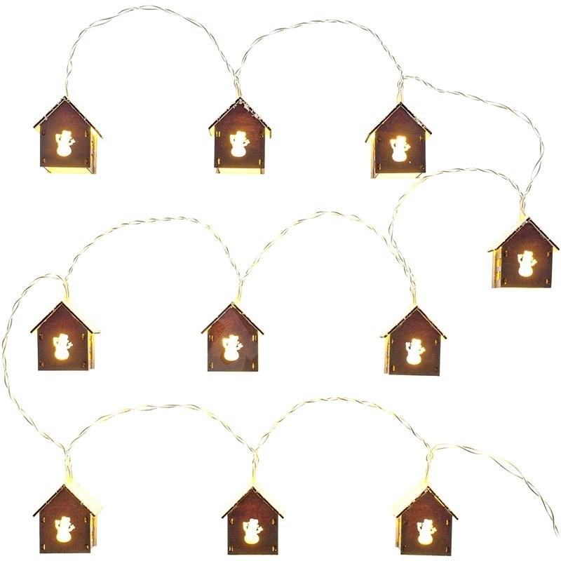 RETLUX RXL 267 domeček, sníh, 10x WW TM   - Vánoční řetěz