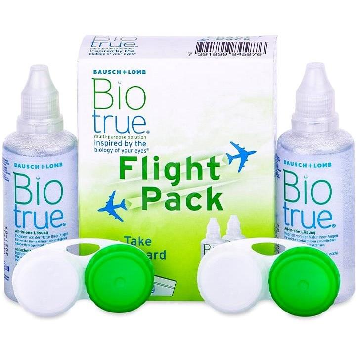 Biotrue Flight Pack 2× 60 ml - Roztok na kontaktní čočky