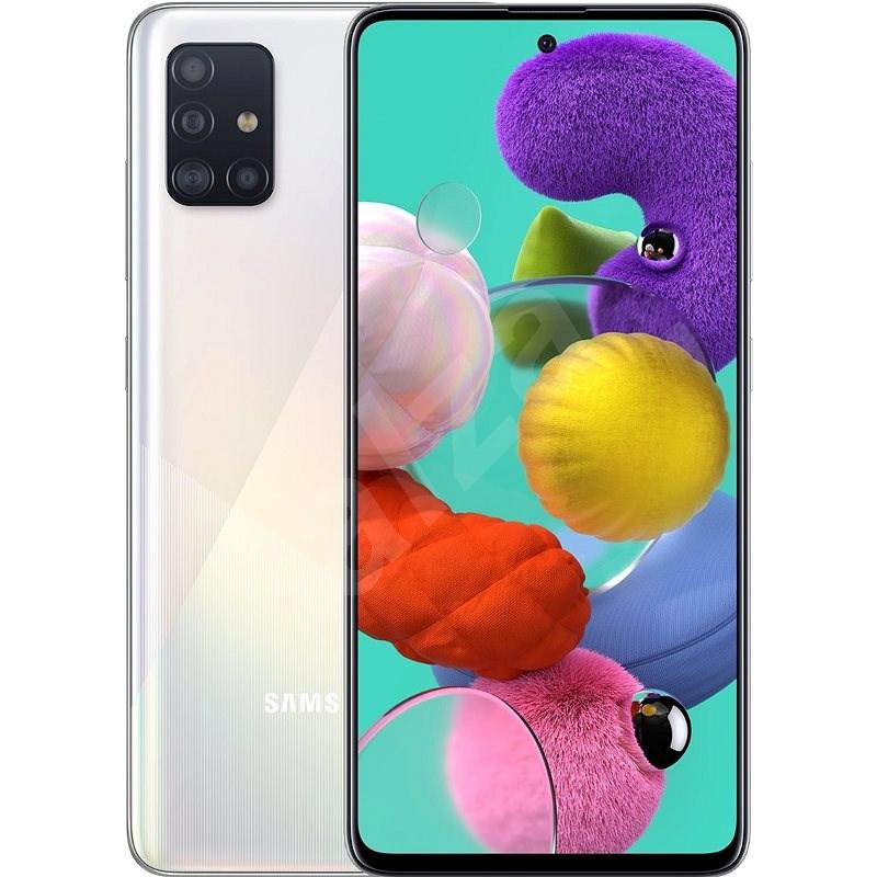 Samsung Galaxy A51 bílá - Mobilní telefon