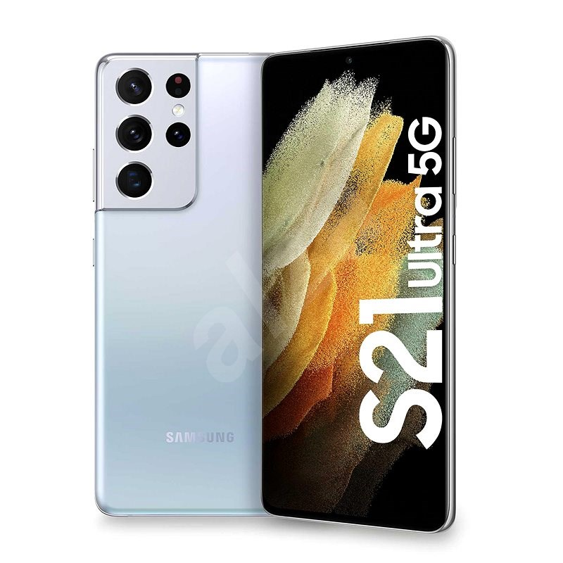 Samsung Galaxy S21 Ultra 5G 512GB stříbrná - Mobilní telefon