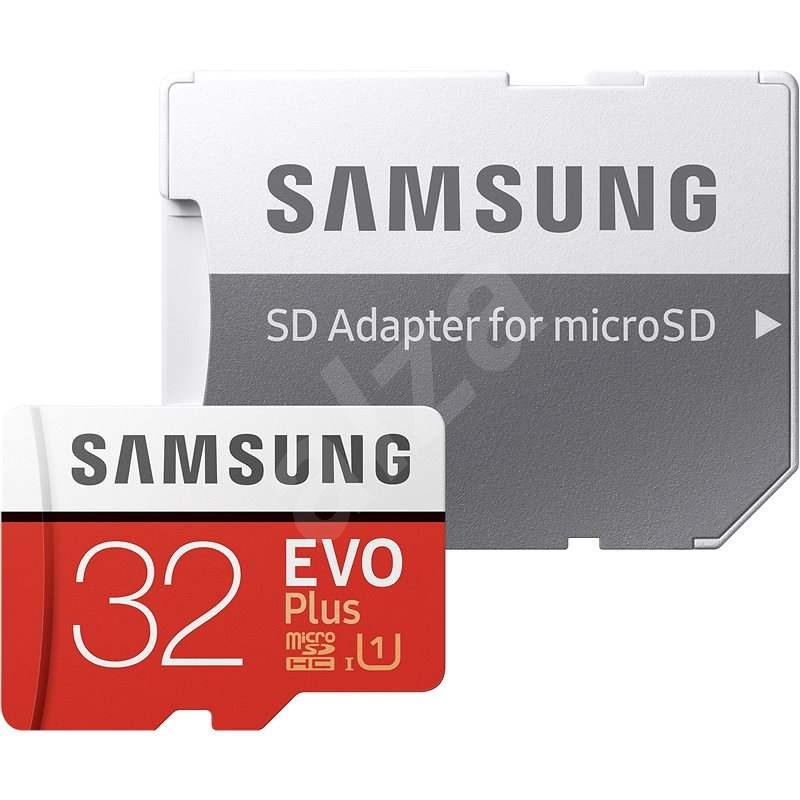 Samsung MicroSDHC 32GB EVO Plus + SD adaptér - Paměťová karta