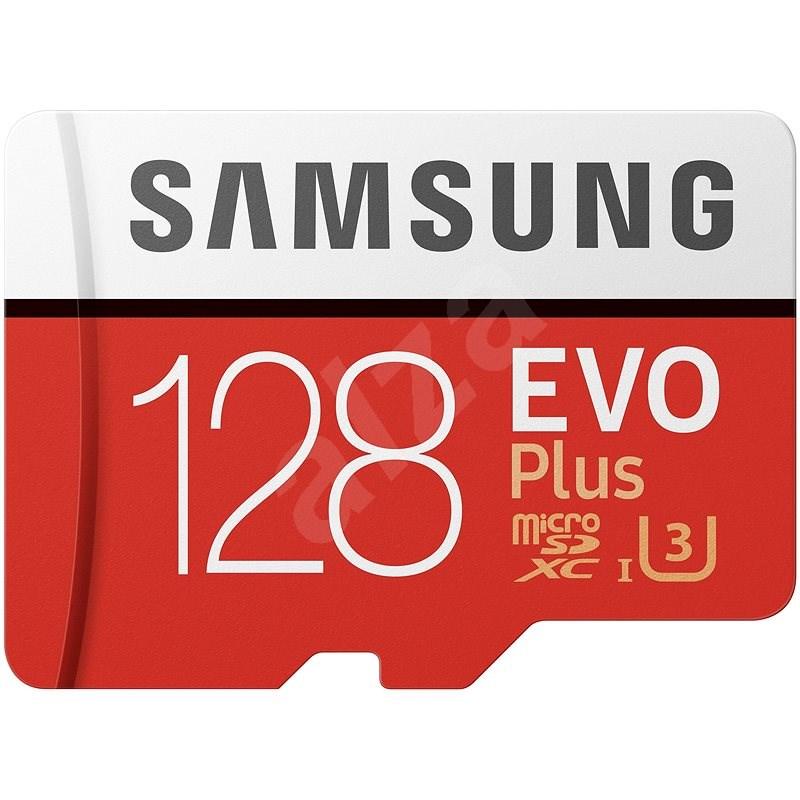 Samsung MicroSDXC 128GB EVO Plus + SD adaptér - Paměťová karta