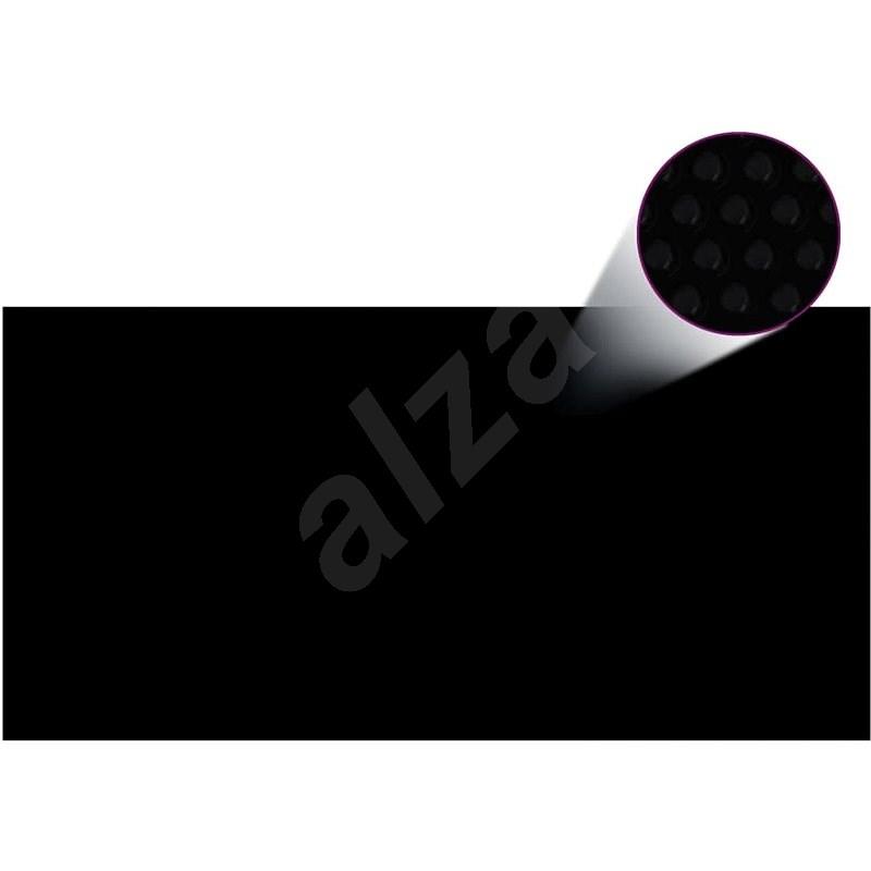 Kryt na bazén černý 732 x 366 cm PE - Ochranný kryt