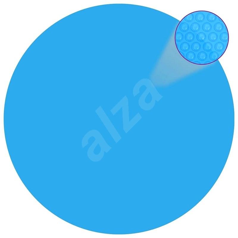 Plovoucí kulatý solární PE kryt na bazén 381 cm modrý - Ochranný kryt