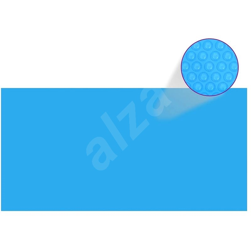 Obdélníkový kryt na bazén 732 x 366 cm modrá PE - Ochranný kryt