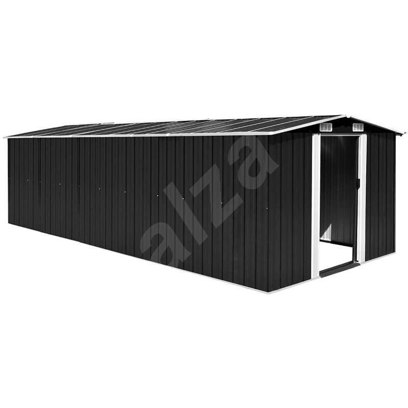 Zahradní domek 257 x 597 x 178 cm kovový antracitový - Zahradní domek