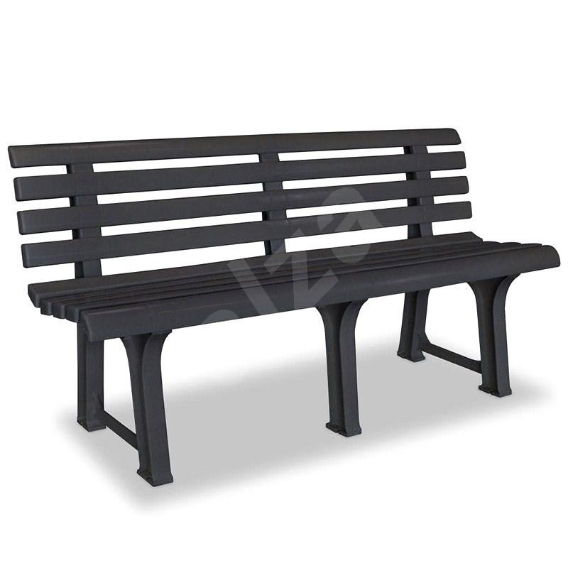 Garden Bench 145.5cm Plastic Anthracite - Garden benches