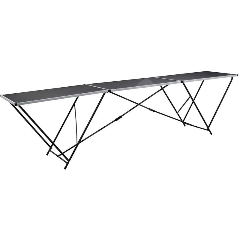 Skládací tapetovací stůl MDF a hliník 300 x 60 x 78 cm - Pracovní stůl