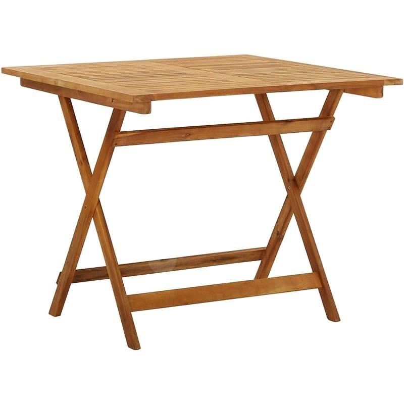 Skládací zahradní stůl 90 x 90 x 75 cm masivní akáciové dřevo - Zahradní stůl