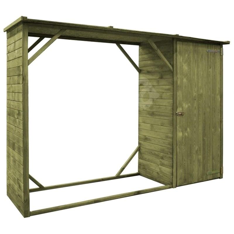 Zahradní kůlna na dříví a nářadí borovice 253 x 80 x 170 cm - Zahradní domek
