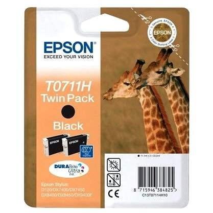 Epson T0711H Dual Pack černá 2ks - Cartridge