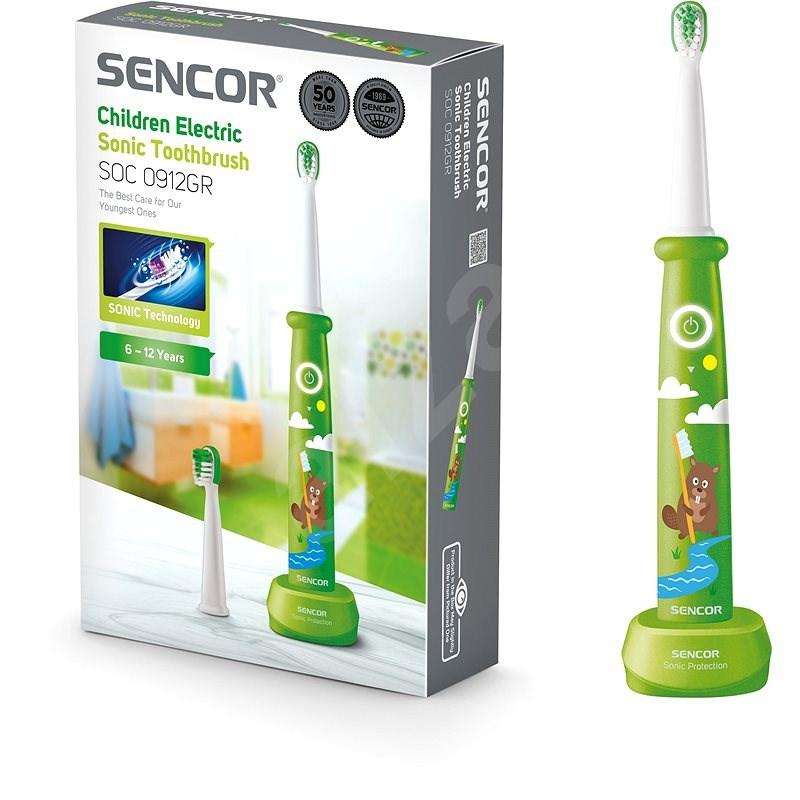 SENCOR SOC 0912RG Dětský sonický zubní kartáček - Elektrický zubní kartáček pro děti